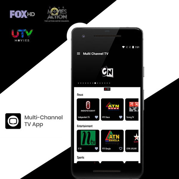 Multi Channel TV Streaming App